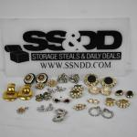 Lot of Costume Jewelry: Clip-On Earrings