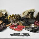 11 pairs of Size 7 1/2 Shoes: Boots, Pumps, Heels, etc - Used, some wear