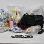 Lot of Crafts Supplies: Carrying Bag, Ribbon, Yarn, etc