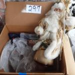 Box of various Christmas items