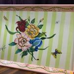 G11 - Floral Wooden Tray