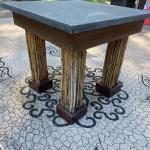 One-Of-A-Kind Blue Stone Topped Outdoor Table