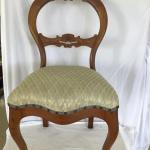971-Pair of Balloon Back Carved Great Mahogany Chairs
