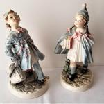 Lot #19  Pair of Ceramic Figures - Italian