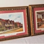 "Lot #16  Pair of Traditional Prints - ""Birthplace of Shakespeare & His Wife"""