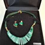 Lot #17  Malachite Necklace w/matching earrings