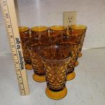 Indiana Glass Amber Goblets