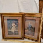 Victorian Boy and Girl Needlepoint Art