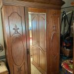 Vintage Mirrored Armoire Cabinet