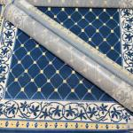 Lot 18: Two New Accent Rugs (yellow and blues)