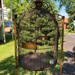 Massive 6 foot Tall Vintage Metal Bird Cage