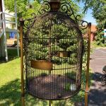 Massive 6 foot Tall Vintage Metal Bird Cage