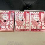 3 cases of  Rare Sands Casino Hotel Paulson playing cards 36 Unopened drilled de