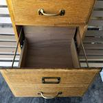 2 drawer oak file cabinet