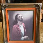 Large Jesus Religious Framed Art Print