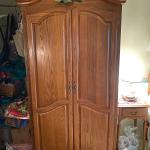 Oak Armoire Storage Closet