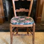 Vintage Wood Chair w Removable Seat