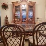 Table and six chairs and China cabinet