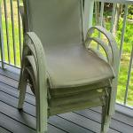 Lot P: High Back Patio Chairs