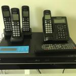 Lot 41:  Toshiba DVD/VCR Player & Panasonic Phone System