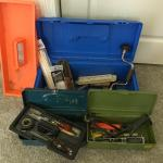 Lot 119: Tool/Storage Boxes & Tools