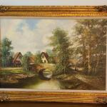 Lot 23: Bernd Gagel  Large Landscape Painting