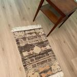 Lot 118: Wood Tiered Accent Table and Accent Rug