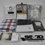 7 pc Window Coverings: Various Sizes & Colors - New