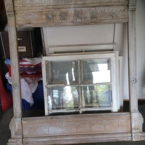 Photo of Old windows and mantel