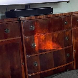 Photo of A6-beautiful finish dresser with side compartments