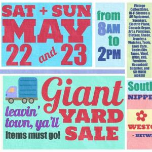 Photo of Leavin' Town, Y'all! Giant Yard Sale!