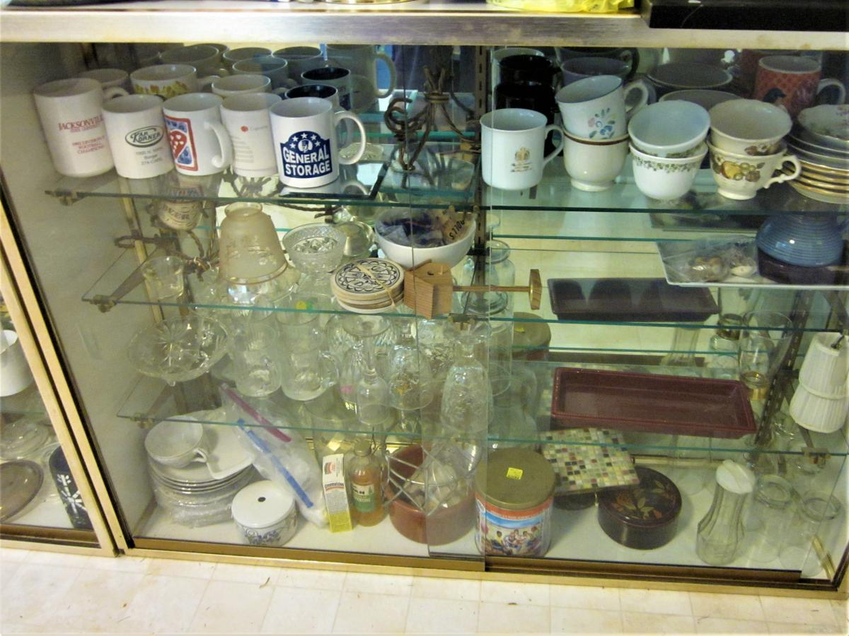 Photo 4 of 2 Mirrored Back, Sliding Glass Door, Glass Shelves DISPLAY Case PICK UP