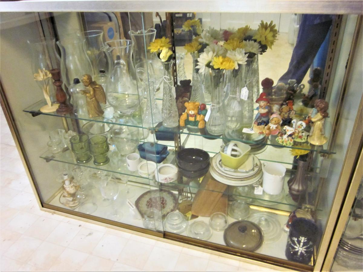 Photo 5 of 2 Mirrored Back, Sliding Glass Door, Glass Shelves DISPLAY Case PICK UP
