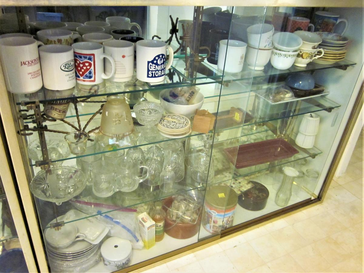 Photo 6 of 2 Mirrored Back, Sliding Glass Door, Glass Shelves DISPLAY Case PICK UP