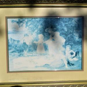 """Photo of 43""""Wx34""""T Vintage Somerset Studios Custom Matted Framed Picture PICK UP"""