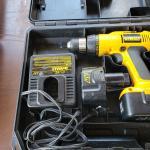 2 Dewalt cordless drill