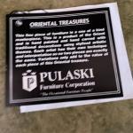 PULASKI PAINT DECORATED SECRETARY DESK, SLANT FRONT WITH BOOKCASE HUTCH, DRAWERS