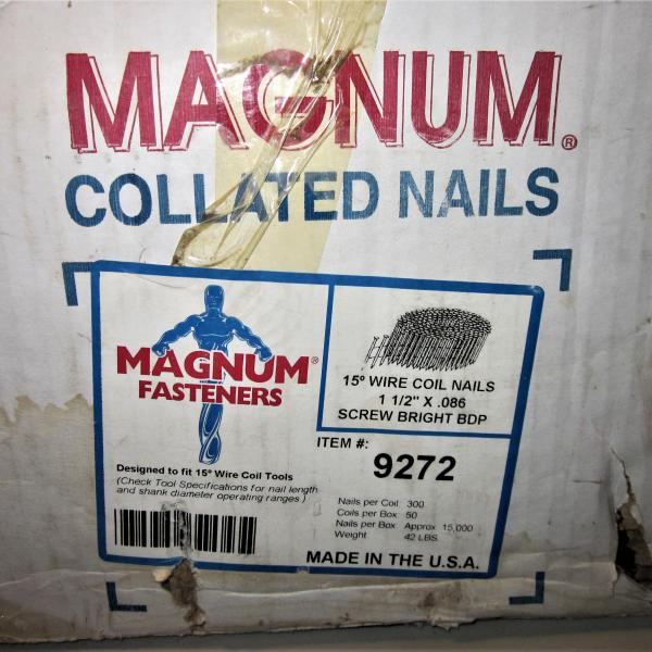 Photo of 15M Magnum Nails 50 Roll Coils w/300/roll for Magnum WCP-57 Nail Gun PICK UP