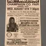 """""""Big Time Wrestling"""" Poster signed by Bobby Fulton"""