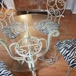 Dining Room Table with beveled Glass Top