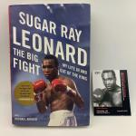Autographed Sugar Ray Leonard the big fight book