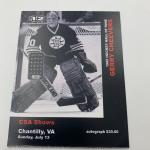 Autographed Gerry Cheevers Hockey Puck
