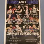 IWA Thunder after thunder autographed poster