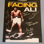 """""""Facing Ali"""" Documentary poster 7 boxers autographed"""