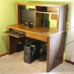 Computer Desk, with Hutch