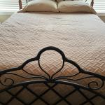 Queen headboard, footboard, mattresses, rails