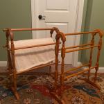 Antique wood quilt racks (2)