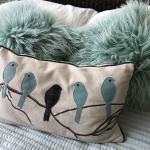 Trio of throw pillows