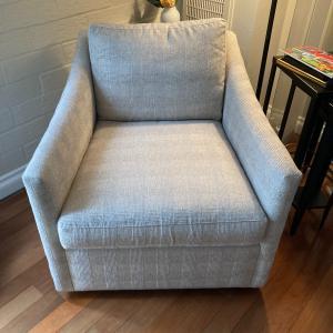 Photo of Arhaus swivel chairs