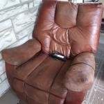 Recliner Chair with electric footrest.